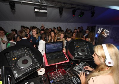 DJ with Private Party Marquee Hire