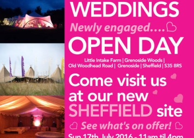 Stunning Festival Themed Wedding Poster Design by Events Collective